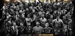 Объявлены имена претендентов на попадание в команду года по версии футболистов