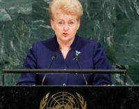 Блогер: Даля Грібаускайте буквально «розмазала» РФ на Генасамблеї ООН