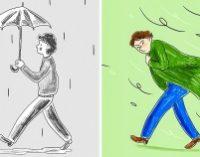 Нарисуйте человека под дождем, имырасскажем, как выборетесь спроблемами